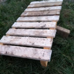 simple pallet wood duckboard path